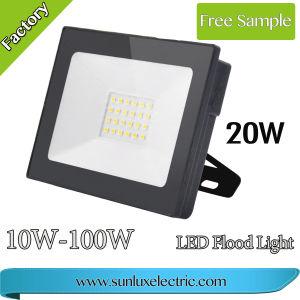 Proyector LED Aprobado ce proyector LED de iluminación exterior 10W 20W 30W 50W 100W de impermeabilización IP65 para el área de juegos