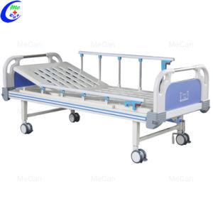 Um médico Manual da Manivela cama hospitalar com cabeceiras de ABS