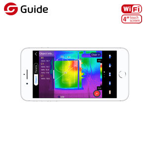 Hohe Präzisions-HandinfrarotWärmebildgebung-Kamera, 384X288 IR Wärmebildgebung-Instrument