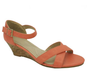 2019 womens Cross Strappy sandales talons bas Chaussures de filtre en coin