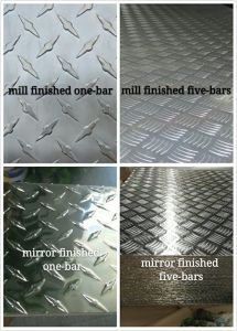 Mirror&Millは終えたアルミニウムによって点検されたシート(one&five棒)を