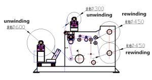 切り開くおよび、革包む、電子工学のためのRewinder機械衣服、プラスチック
