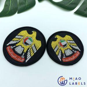 Ropa personalizada insignias de tejido de la fábrica China bordado parches para sombreros/Emblemas de Prendas de Vestir online