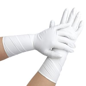 Осмотр Anti-Oil Машиностроение нитриловые перчатки утилизации