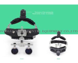 歯科外科医学のためのLEDのヘッド軽いランプが付いている双眼ルーペ