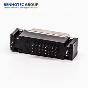 Immagine per doppi il tipo diritto della saldatura del connettore 24+1 del segnale DVI
