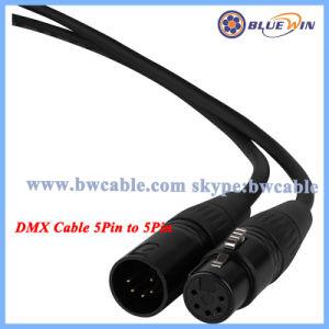 5ワイヤーDMXケーブル6 'ワイヤーで縛るケーブル5つのPin DMXケーブル100 FT 5のPin DMXケーブルの大きさ5 Pin DMXケーブルのカナダ5 Pin DMXケーブルのPinout 5 Pin DMX DMXケーブル