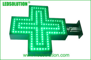 50X50cm im Freien einzelnes Kreuz LED-Bildschirmanzeige-Zeichen der Farben-P10