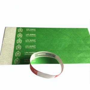 주문을 받아서 만드는 처분할 수 있는 Tyvek RFID 서류상 소맷동 듀퐁 손목 꼬리표 인쇄