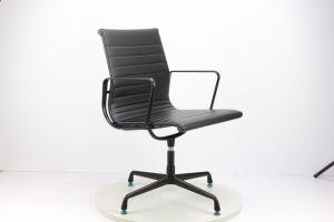 Aleación de aluminio negro Amrest cuero estilo Eames Silla de ...
