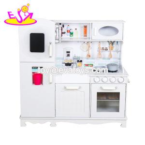 Nouvelle arrivée prétendre jouer gros jouet Cuisine en bois blanc pour les enfants W10C409