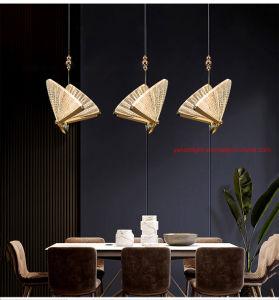Новая лампа в форме бабочки стран Северной Европы на прикроватном мониторе люстра Роскошные лестницы подвесной светильник