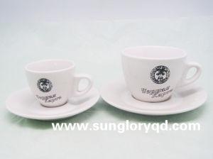Mok van de Koffie van het Porselein van de Kop van de Thee van het Embleem van de douane de Ceramische van Bd010