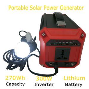 Off-Grid sistema generador de energía de Batería Portátil 300W 110V/220V