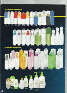 Flacons en PEHD (PET) avec du plastique Overcaps