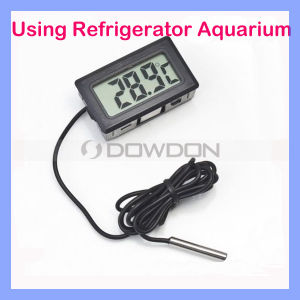 Schwarzes/White Refrigerator/Aquarium Thermometer Digital Thermometer mit Probe