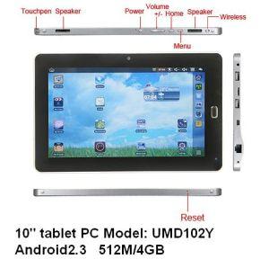 10  tocco resistente della METÀ DI UMD UMPC Android2.3 Ix210@1GHz 512m 4G WiFi HDMI GPS del ridurre in pani macchina fotografica del PC