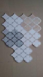 大理石パターンボーダー、室内装飾Bc-12のためのWater-Jet大理石の円形浮彫り