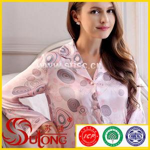 Seta Ladies Night Skirt Night Skirt Pajamas Sleepwear di 100% per Women