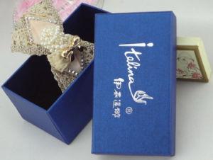 Het zilveren Hete het Stempelen Vakje van de Gift van het Document van de Haarspeld van het Embleem