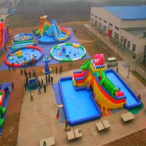 2019 La mayoría Popular inflable gigante Parque acuático para niños