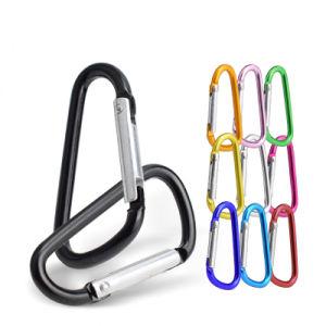 47mm 5# D forma colorida Mosquetón de escalada de aluminio en diferentes colores para el mosquetón llavero