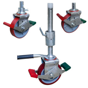 Fuentes de las fábricas de la rueda giratoria ajustable de 8 pulgadas para andamios