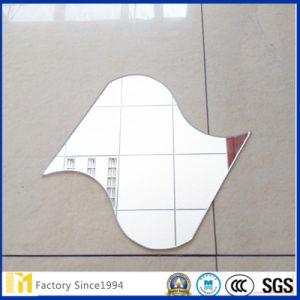 Dekoratives unregelmäßig geformtes Wand-Silber oder Aluminium-Spiegel-Glas