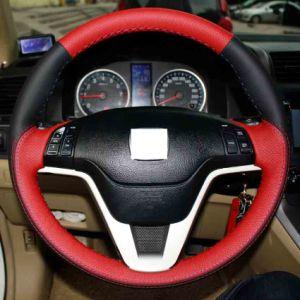 De rode en Zwarte Echte Dekking van het Stuurwiel van de Auto van het Leer voor Honda Civic Oude Burger 2006-2011