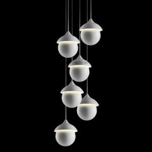Esfera de ferro com Novo Design Moderno de iluminação LED Lâmpada Pendente
