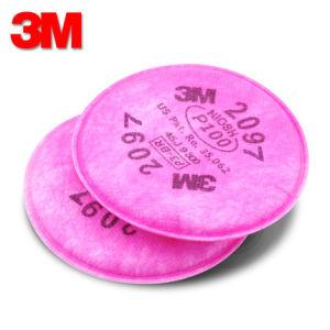 2097 3m 3m filtro filtro de partículas P100 filtro Máscara de la mitad de 2091 2096 2097 para la mascarilla 3m 6200 y 7502