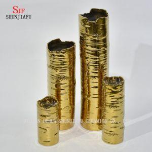 Mariage idéal de décor de cadeau en métal de fini d'or de supports de bougie, usager, maison, STATION THERMALE, aromathérapie, votive, lumière de thé, vase à jardin de bougie/floral