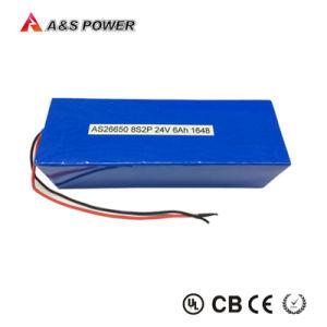 IEC62133/ONU38.3 Solar de Batería recargable de almacenamiento de 24V 6Ah LiFePO4 de la batería