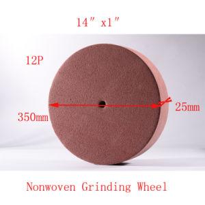 14  X1  12pの磨くクリーニングPUの粉砕車輪の研摩のパッドの非編まれた粉砕ディスク