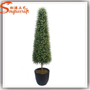 Venda a quente de plástico de buxo Topiary Artificial Tree Bonsai