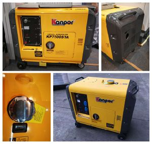 6.0Kw 6.5kw 50Hz/60Hz portátil fresco aire insonorizados Generador Diesel