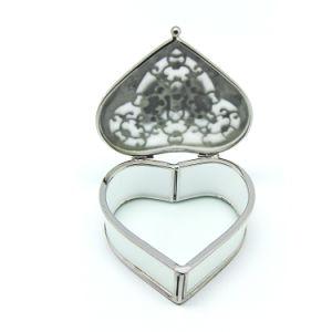 現代中心の形の幾何学的なガラスリングの宝石箱(Hx-7335)