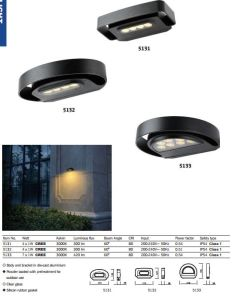 4-7Wアルミニウム方法防水屋外LED庭の壁ライト