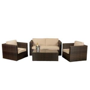 Современные плетеной алюминия белого цвета подушки дивана, отдых на открытом воздухе Садовая мебель