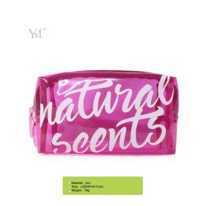 Bon marché rentable femmes cosmétique Nice pochette transparente en PVC avec 3 couleurs