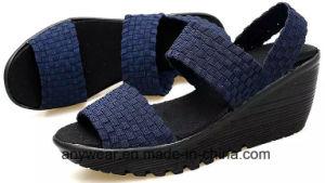 Mode Femmes sandale chaussures chaussures Lady tricot occasionnel tissé (464)