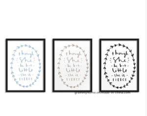 MDF arte de pared simple moda Estilo Fresco Carta marco