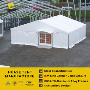 25m feste Glasummauerung gebogenes großartiges Pavillion-Festzelt-Zelt für Verkauf