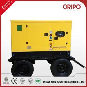 Leiser/geöffneter 28kw Typ elektrischer Strom-Dieselgenerator mit Lovol Motor