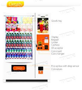 Bebidas e snacks automática máquina de venda automática da tela de toque