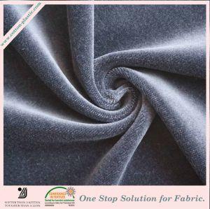 Tejidos de punto Color sólido tejido de terciopelo liso de prenda de vestir