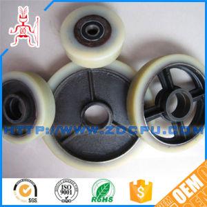Resistente ao desgaste das rodas do rolete revestidas com borracha / Rodízio Industrial com núcleo de metal para máquinas