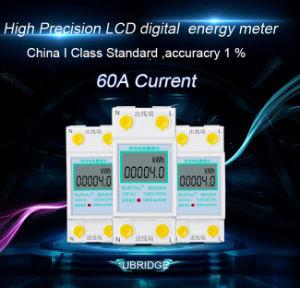 Монитор счетчика энергии одиночной фазы франтовской предоплащенный беспроволочный/энергии цифров