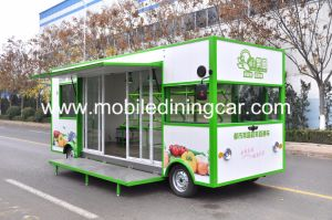 Горячие продажи фруктов и овощей на четырех колесах продажи движимых погрузчика