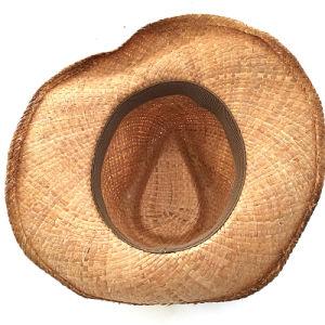 Dame de la mode du chapeau de paille